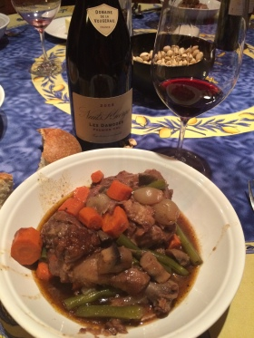 Coq au Vin by Mary Stec with the Domaine de al Vougeraie Burgundy.