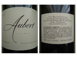 Wine - Aubert 2007