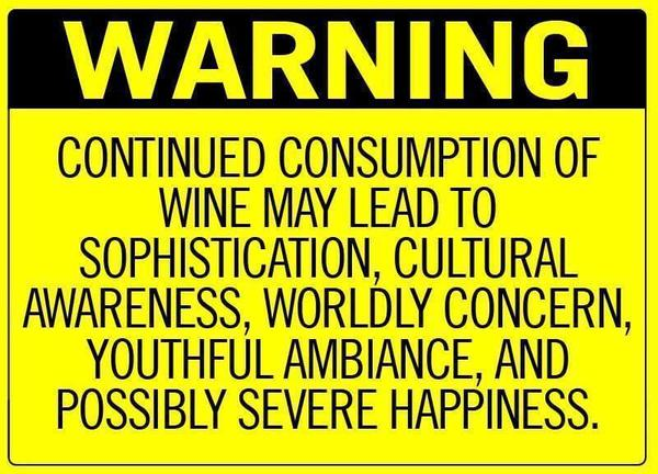 Wine - Warning sign