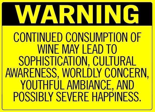 Wine - Warning sign
