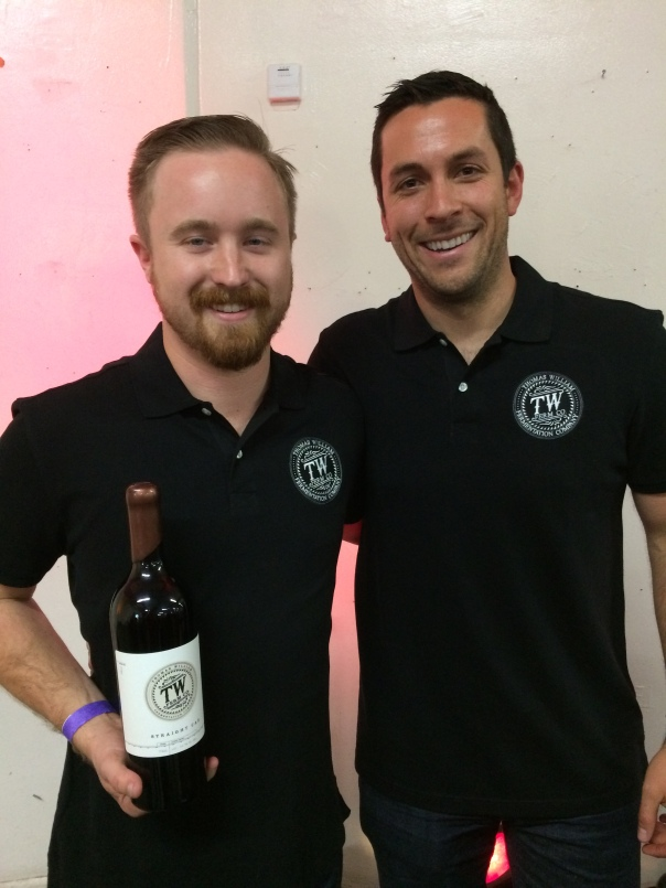 Paul Quinn & James Schreiner of TW Ferm Comany Wines. Cabernets only!