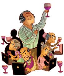 Wine - Critic Cartoon