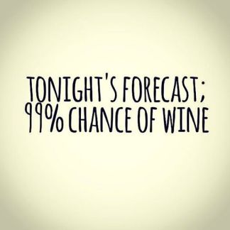 Wine - Poster - Tonights Forcast