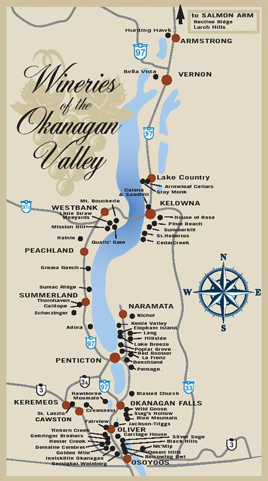 Wine - Okanagan wine-map